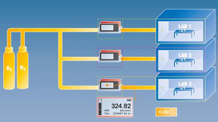 Gasverbrauchsmessung mit batteriebetriebenen Durchflussmessern von Vögtlin