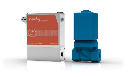 Thermischer Massedurchflussregler mit IP67/NEMA 6 Schutz red-y industrial controller