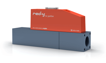 """Thermischer Massedurchflussregler für Gase red-y smart controller GSC 1/2"""" Alu Profibus"""