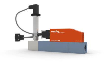 Elektronischer Vordruckregler für Gase mit integrierter Durchflussmessung red-y smart pressure controller GSB 1/2 Zoll