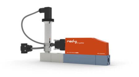Elektronischer Vordruckregler für Gase mit integrierter Durchflussmessung red-y smart pressure controller GSB