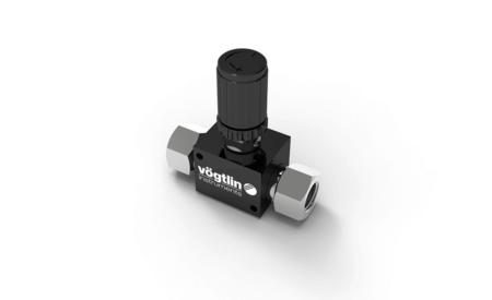 Präzisions-Nadelventile M-Flow für Gase – Standard Drehknopf mit Verstellsicherung