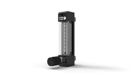 Schwebekörper Durchflussmesser Q-Flow für Gase – Aluminium Version mit Ventil am Eingang