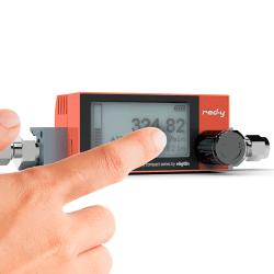 Batteriebetriebene digitale Durchflussmesser für Gase mit Touch-Anzeige