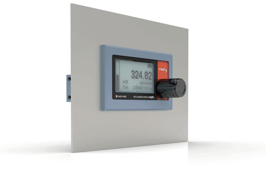 Schalttafel Einbau-Kit für batteriebetriebene digitale Massenmesser für Gase red-y compact series