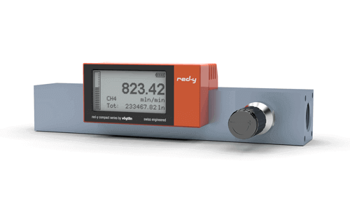 "Digital Mass Flow Meter 1/2"" Alu Version with flange mounted Valve"