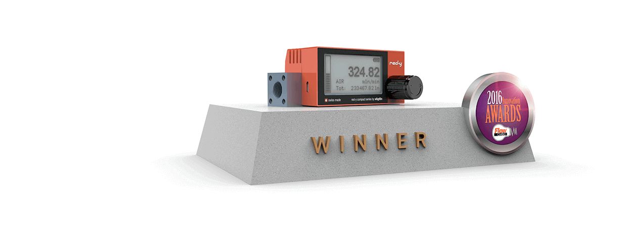 Digital Mass Flow Meter red-y compact wins flow control innovation award