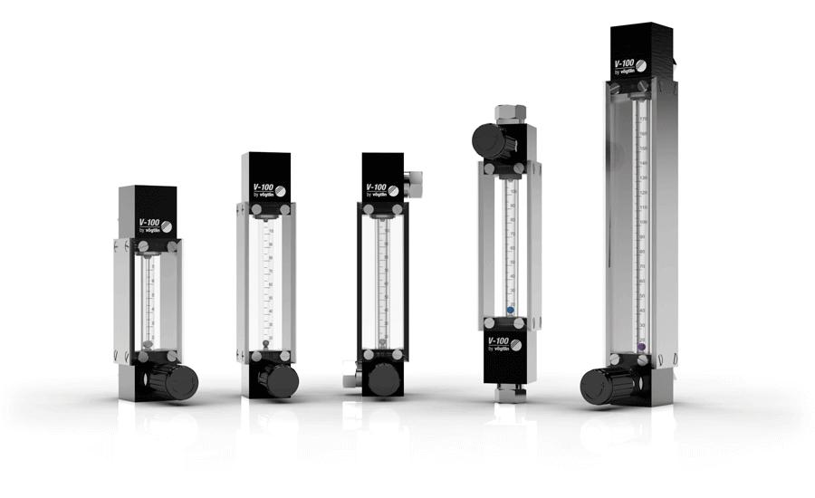 Schwebekörper Durchflussmesser (VA-Meter) für Gase V-100