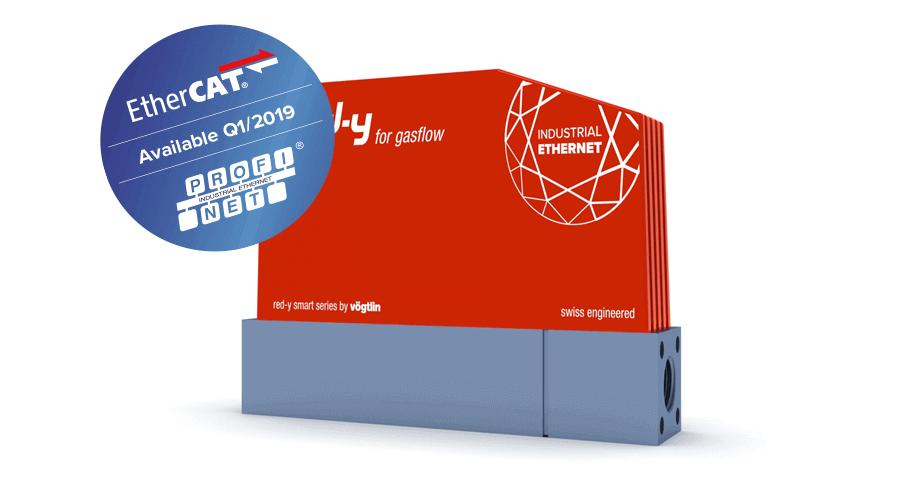 Digitale Massendurchflussmesser & Regler für Gase mit Profinet & EtherCAT Schnittstelle