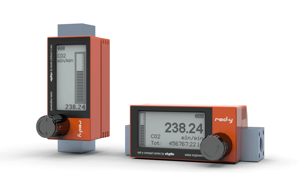 Battery powered digital Mass Flow Meter red-y compact series
