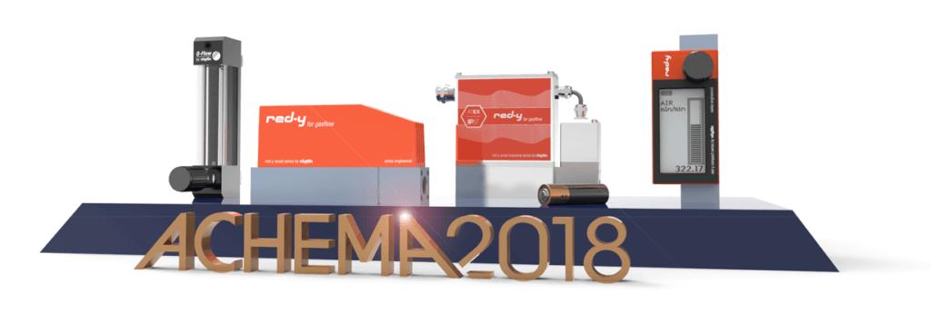 Vögtlin Gas-Durchflusslösungen auf derACHEMA 2018