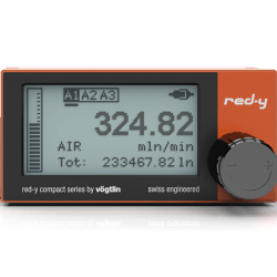 Battery powered digital mass flow meter red-y compact series with touch interface