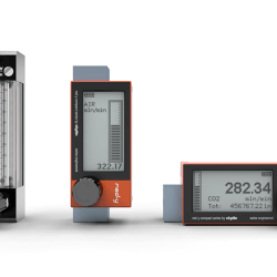 The battery powered digital mass flow meter red-y compact series are a unique va-meter alternative