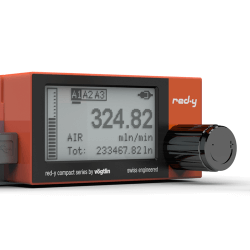 Batteriebetriebene digitale Massendurchflussmesser für Gase mit Touch Interface