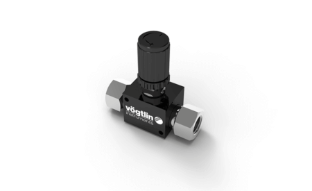High-precision control valves for gases and liquids M-Flow - Standard Knob with locking ring