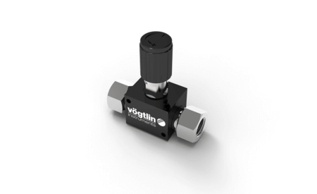 High-precision control valves for gases and liquids M-Flow with standard knob