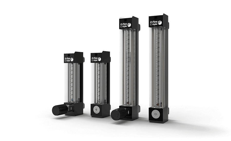 Variable Area Flowmeters Q-Flow with 2 measuring tube sizes