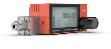 Battery Powered Digital Mass Flow Meters red-y compact series